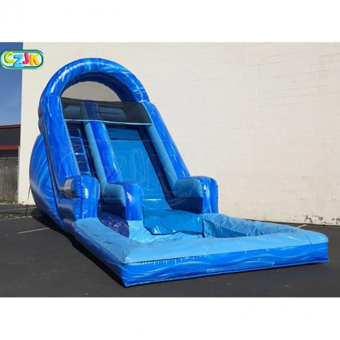 Commercial Wet Dry Water Slide  Double Stitching Strong Bearing CE Certification