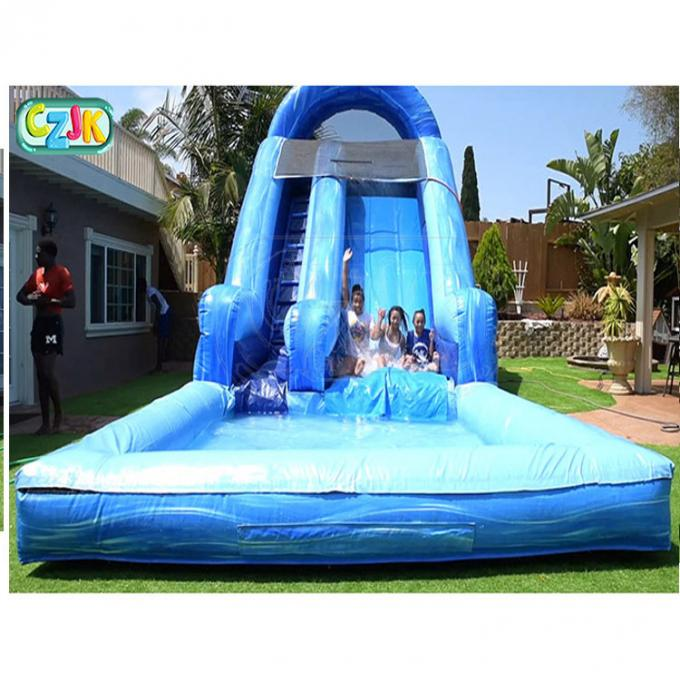 Large Outdoor Backyard Blow Up Water Slide For Adults ...